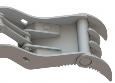 progressive link excavator thumb