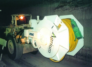 CWS Cable Reeler for Underground Loaders
