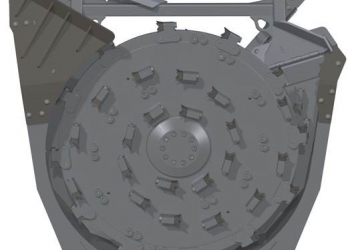 Forestry Disk Mulcher Render 3, from Bottom
